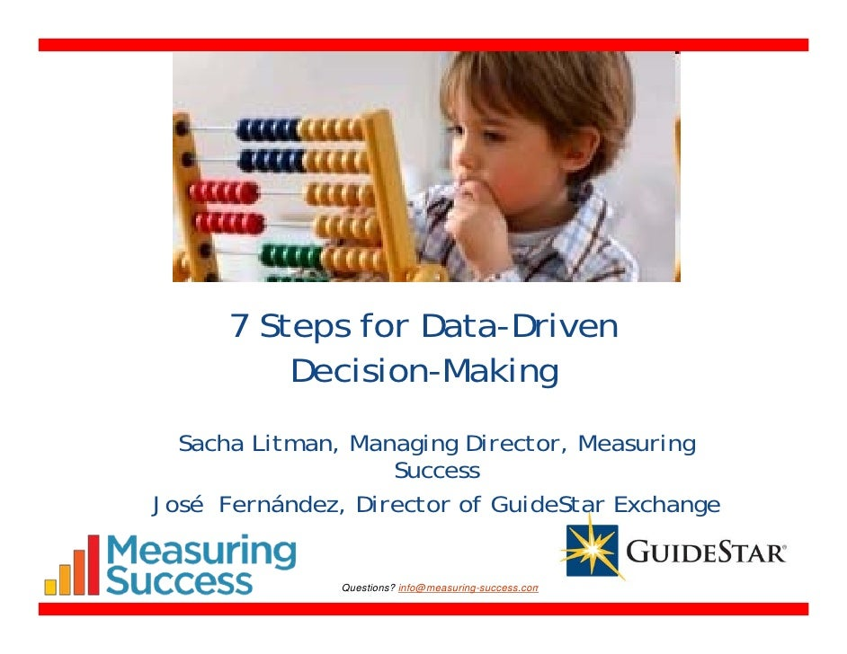 Data driven decision making dissertation