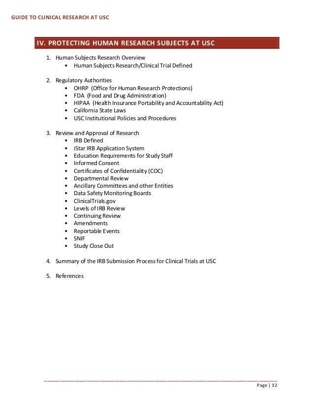 how to do clinical research at usc resource guide