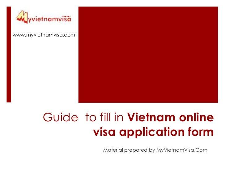 Guide to fill in Vietnam online visa form