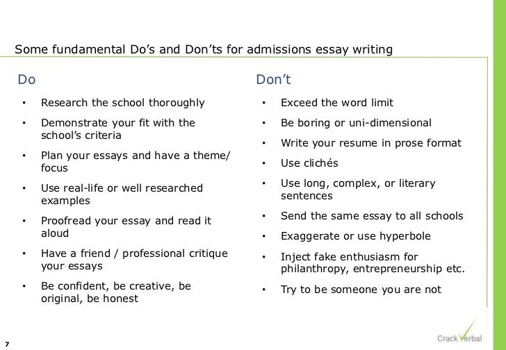 Writing a good college admissions essay 2013