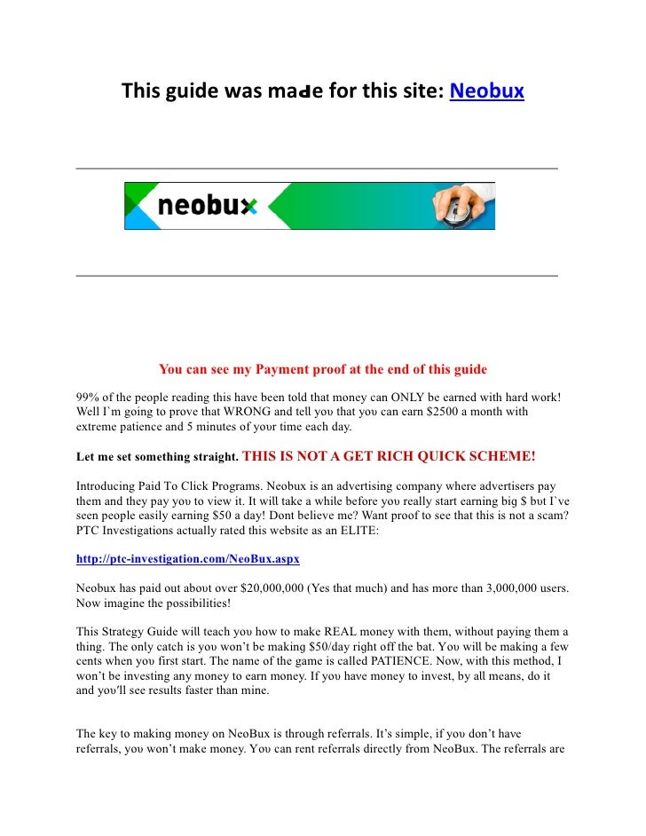 Thіѕ guide wаѕ mаԁе fοr thіѕ site: Neobux                You can see my Payment proof at the end of this guide99% οf thе p...