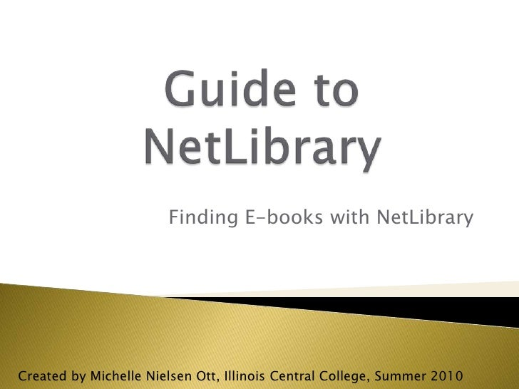 Guide to Netlibrary