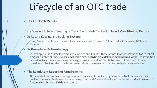 Omgeo trading system