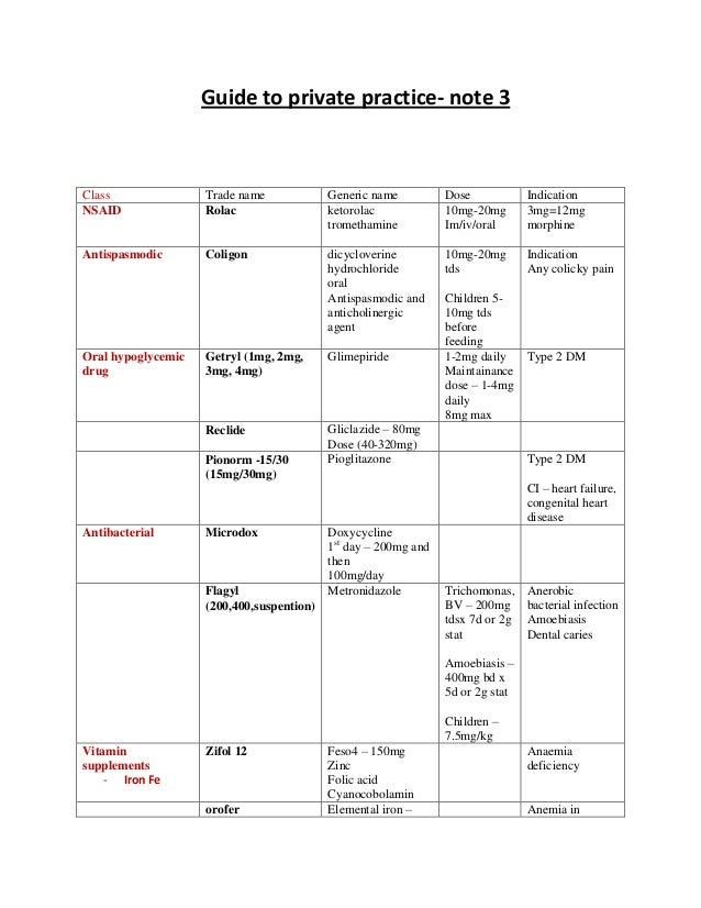 Guide to private practice in medicine note 3