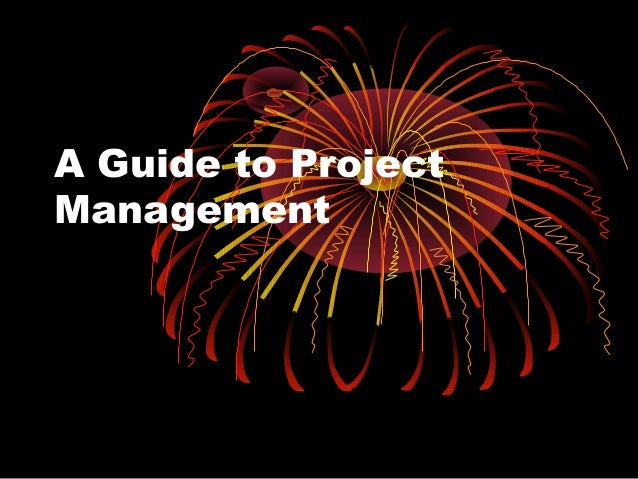 Guide to project management 60 s