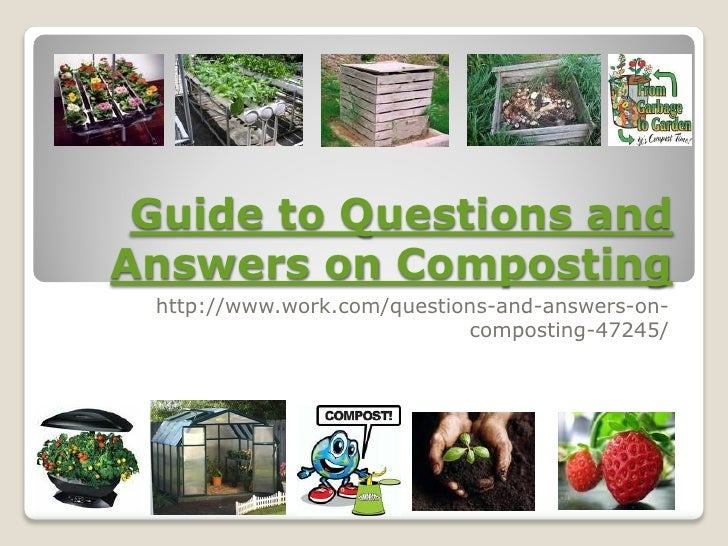 Guide To Questions And Answers On Composting