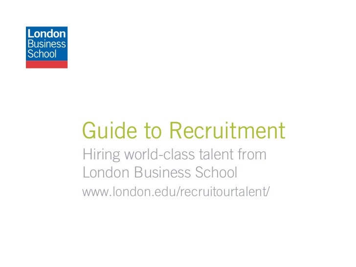 Guide to recruitment at London Business School