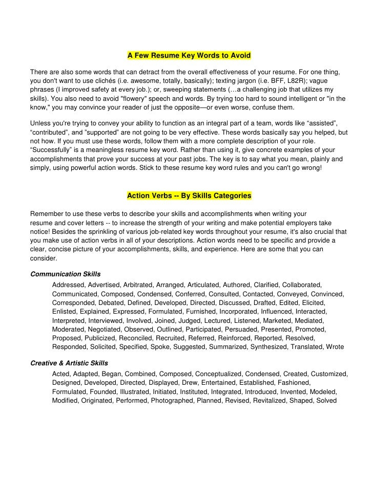 industry keywords for resume automobile industry resume for