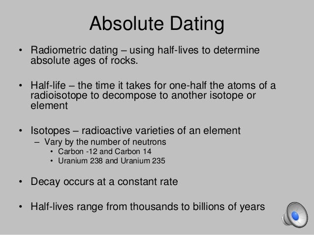 what are some relative dating methods