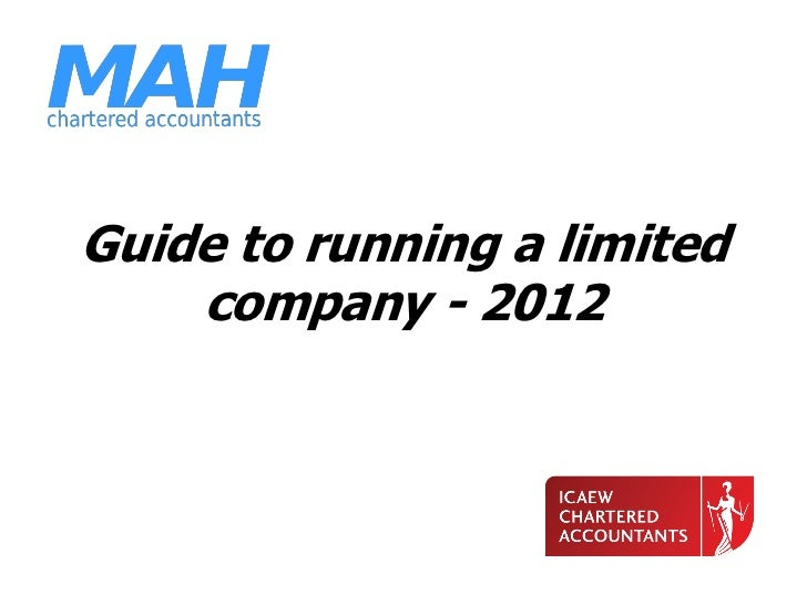 Guide to running a limited    company - 2012