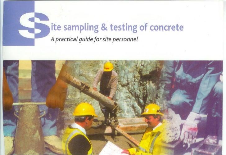 &ite sampling testingof concreteA practical guide for site personnel