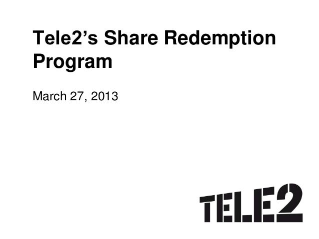 Guide to share redemption program