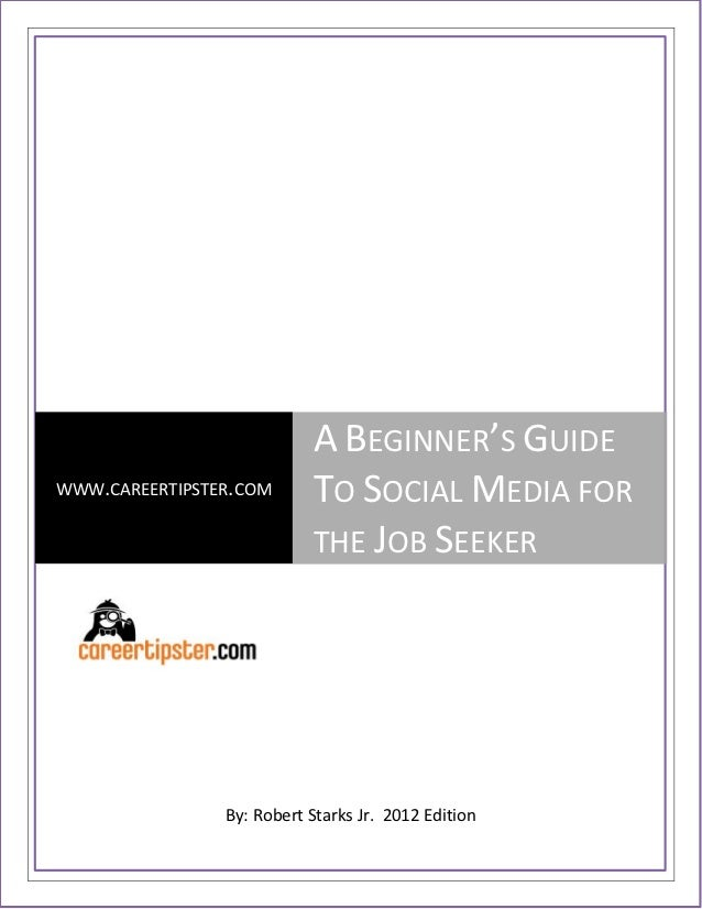 Guide to social media for job seeker