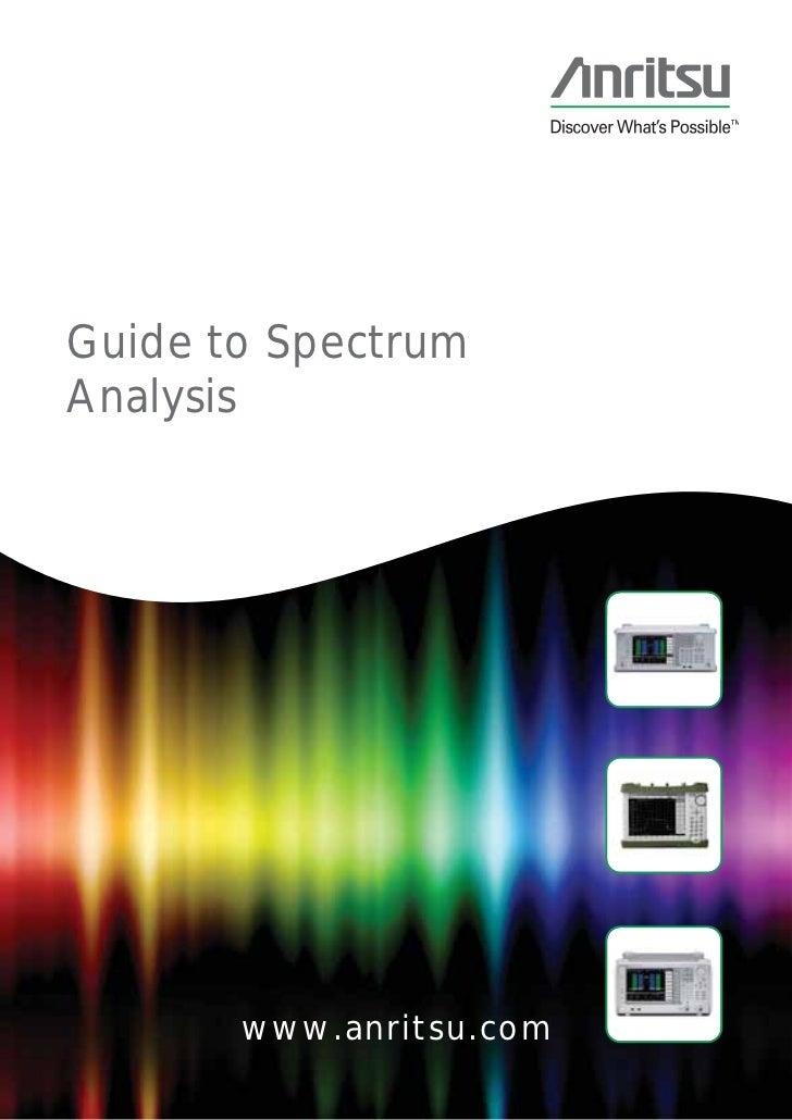 Guide to SpectrumAnalysis       www.anritsu.com