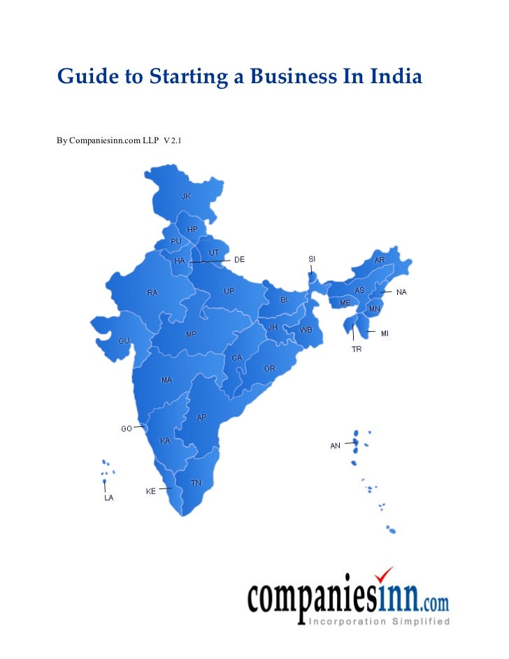 Guide to Starting a Business In IndiaBy Companiesinn.com LLP V 2.1