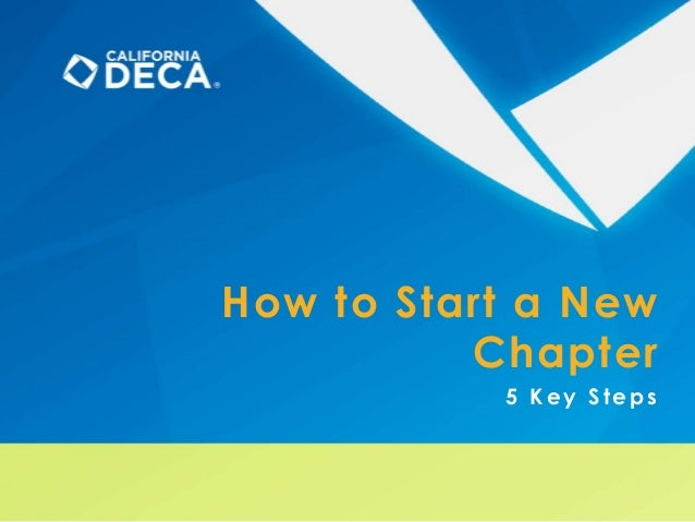 How to Start a New Chapter 5 Key Steps