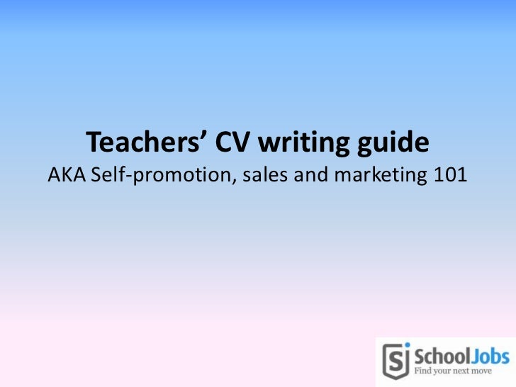 Teachers' CV writing guide
