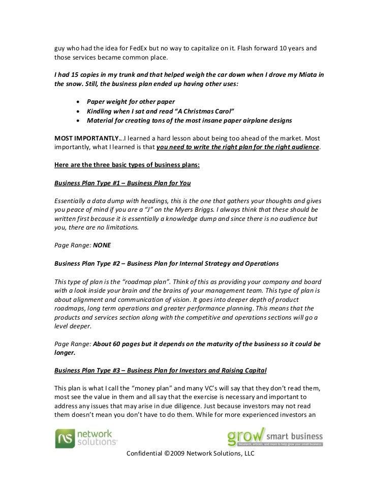 Fedex business plan