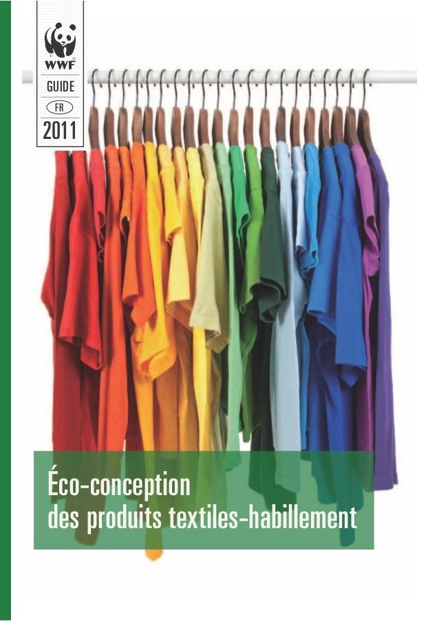 GUIDE FR2011Éco-conceptiondes produits textiles-habillement
