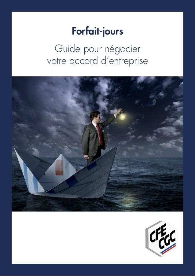 Forfait-jours Guide pour négocier votre accord d'entreprise