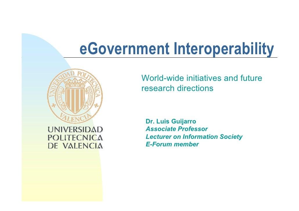 eGovernment interoperability