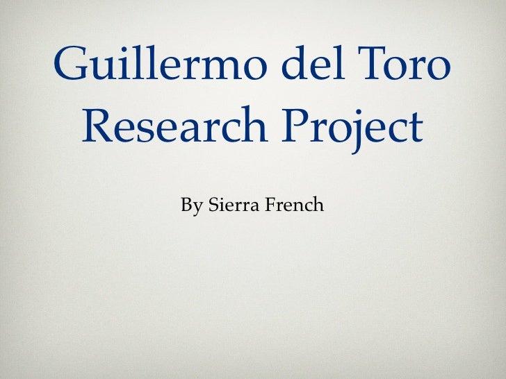 Guillermo del toro Director Project