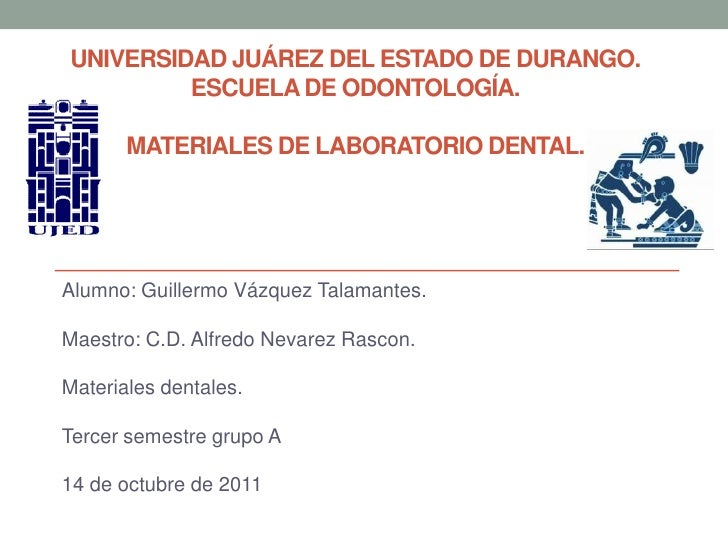 Materiales de laboratorio dental