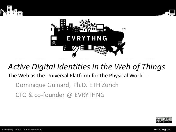 Activity Digital Identities in the Web of Things