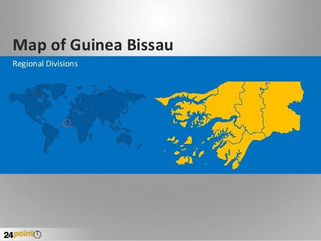 Map of Guinea Bissau Regional Divisions