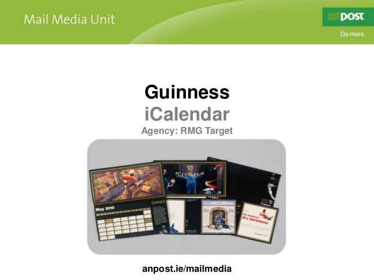 Guinness iCalendar - direct mail case study