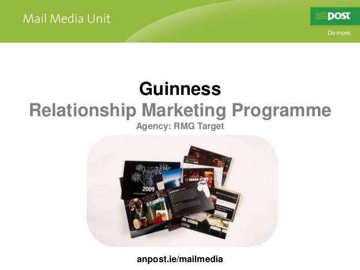 Guinness<br />Relationship Marketing Programme<br />Agency: RMG Target<br />anpost.ie/mailmedia<br />