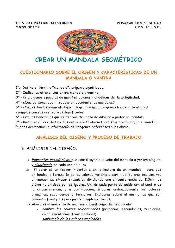 I.E.S. CATEDRÁTICO PULIDO RUBIO                              DEPARTAMENTO DE DIBUJOCURSO 2011/12                          ...