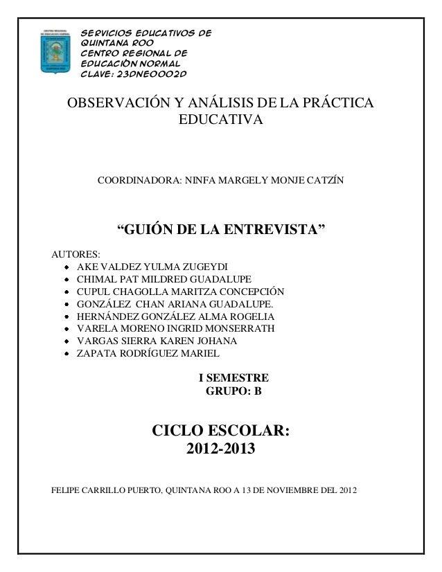 Servicios Educativos de      Quintana Roo      Centro Regional de      Educación Normal      Clave: 23DNE0002D      Licenc...