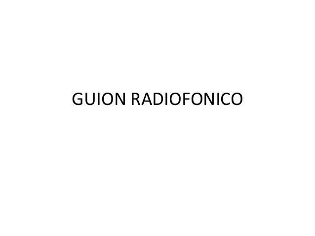 guion radiofonico: