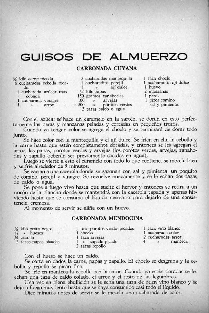 GUISOS                           DE ALMUERZO                                      CARBONADACUYANA                         ...