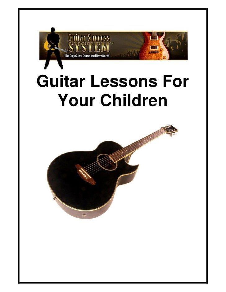 Guitar lessons for your children