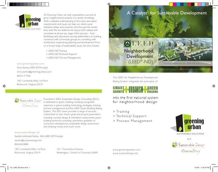 Greening Urban LEED Brochure