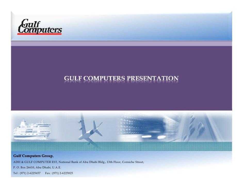 Gulf Computers Presentation