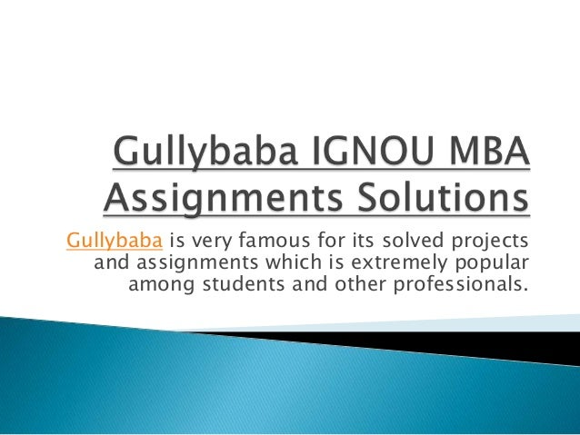 assignment solution of ignou
