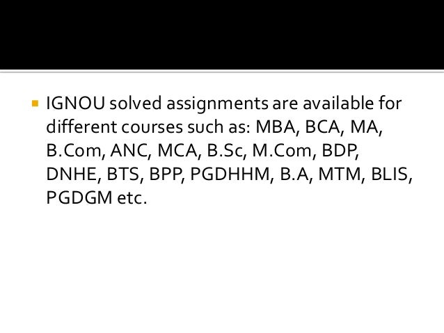 ignou assignment papers 2012