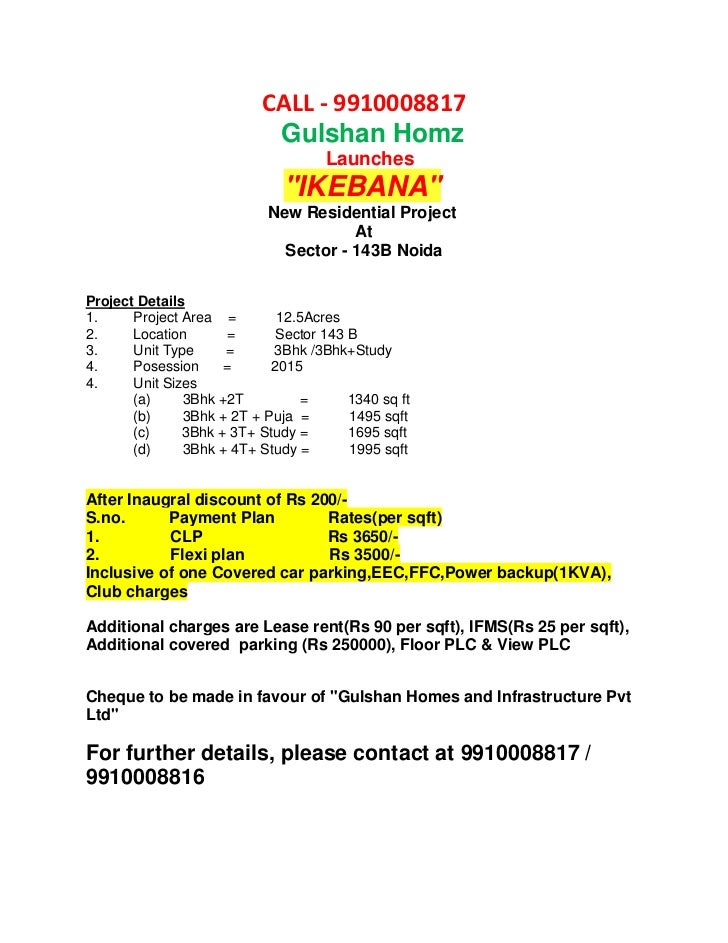 CALL - 9910008817                            Gulshan Homz                                    Launches                     ...