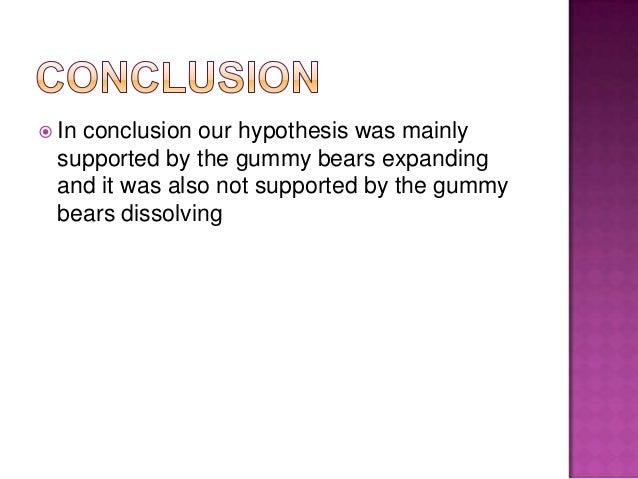 Gummy bear lab osmosis essay