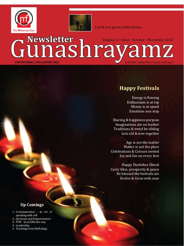 Gunashrayamz                                 …I wish you great celebrations…          Newsletter                   Volume:...