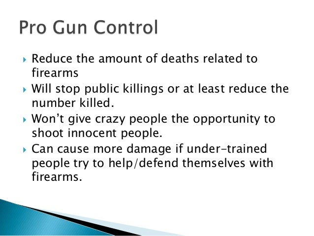 pro gun control speech Pro gun control sounds more like you favor limits on the types of guns and ammo a person can have pro gun rights is more of what you want to say if you believe in the individual right to keep and bear arms under the 2nd.