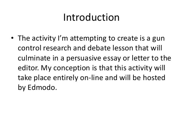 Argumentative Essay On Gun Control