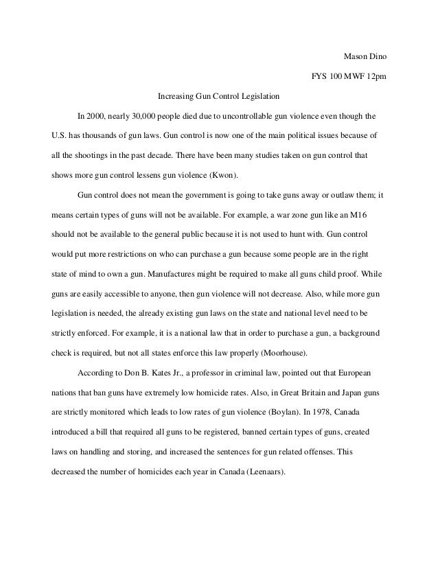 persuasive essays on gun control co gun control essay