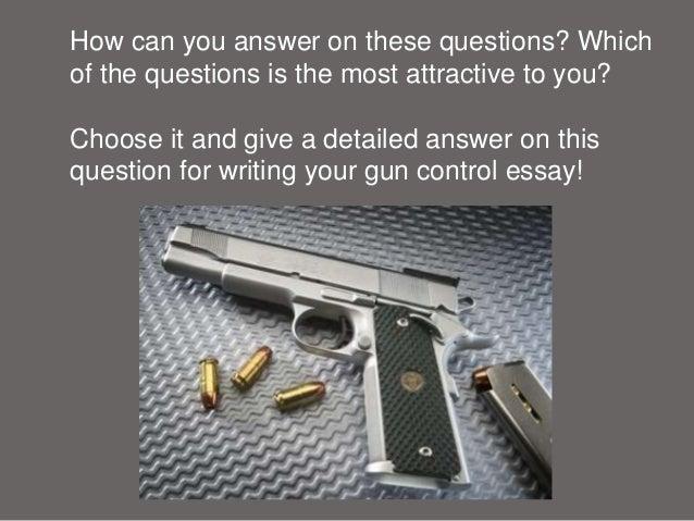 Essays against gun control