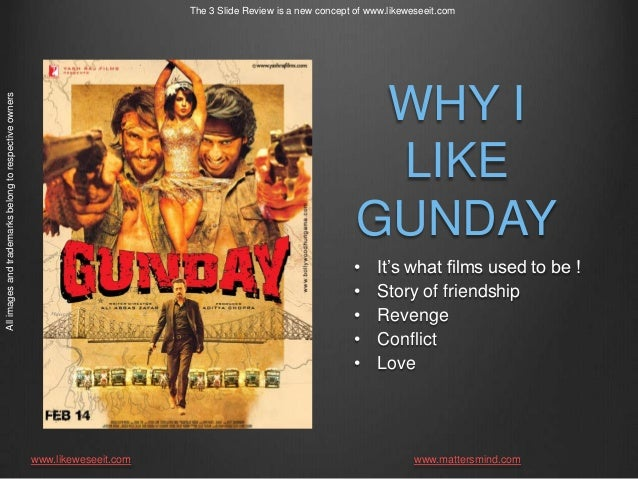 The 3 Slide review : Gunday