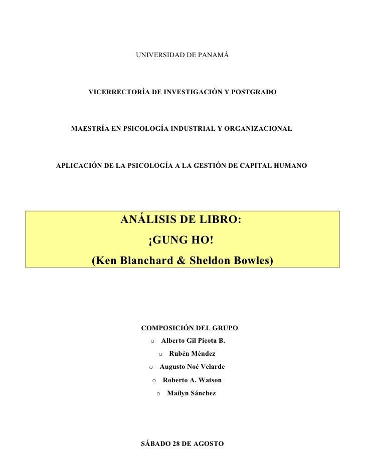 UNIVERSIDAD DE PANAMÁ            VICERRECTORÍA DE INVESTIGACIÓN Y POSTGRADO        MAESTRÍA EN PSICOLOGÍA INDUSTRIAL Y ORG...