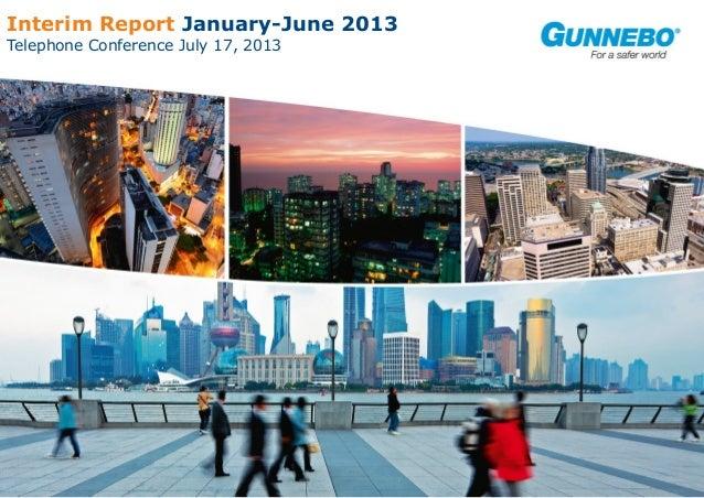 Gunnebo Interim Report January-June 2013